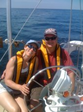 Nice picture of a couple sailing