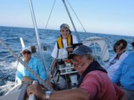 Family sailing picture