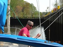 ME in the South Mills lock