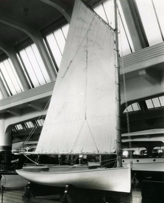 SPRITE displayed full rigged at the Ford Museum between 1930-1979.