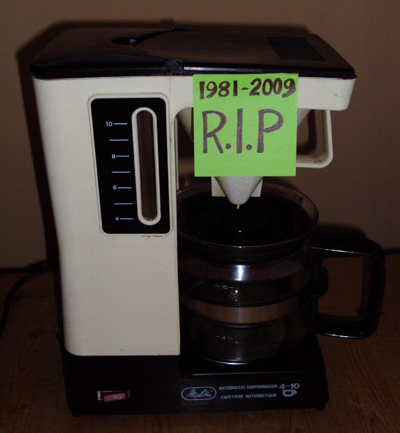 R.I.P Melitta Coffee Maker