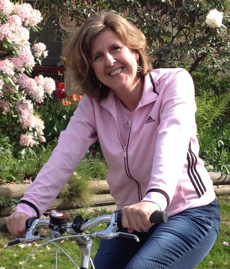 Jan on her bike