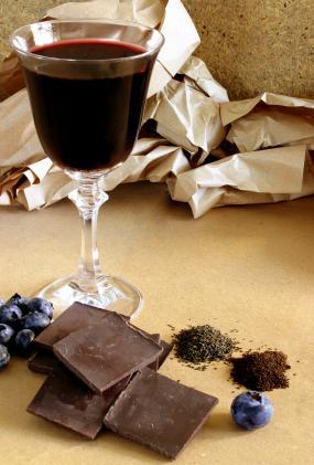 wine and chocolate reception