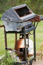 burnt out barbecue - too much out-flow