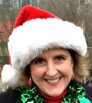 Jan in Santa Hat