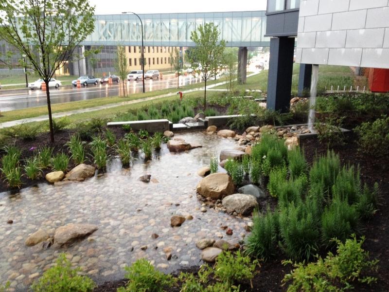 Stormwater Management Basin : Bridgestone technical center wins ohio stormwater award