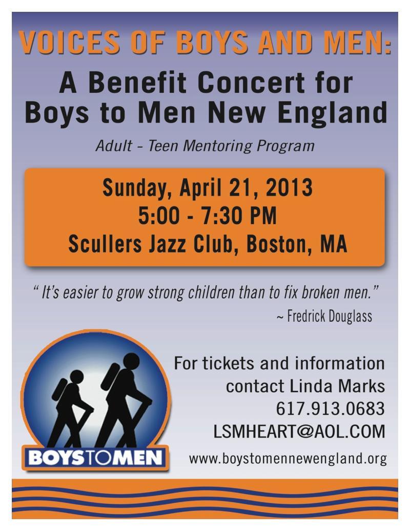 2013 Benefit Concert Flyer