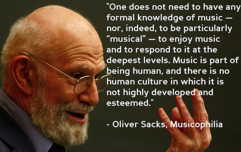 Oliver Sachs on Music