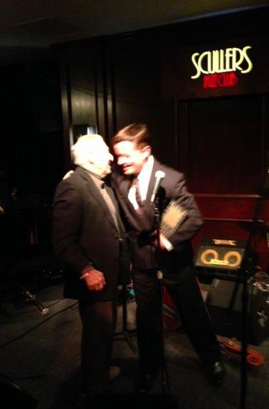 Jordan Rich awarding Fred Taylor