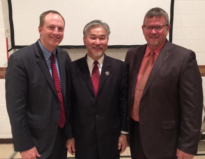 Pastor Wayne, Dr. Wei, and Pastor Ron Mandeville