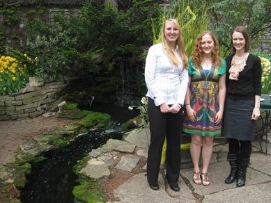 Scholarship recipients Caitlin Weber, Jessica Miller, Kristina Nesse