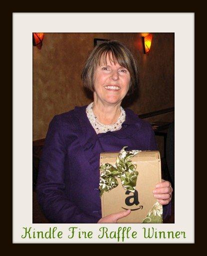 Laurie McGinnis, winner of Kindle Fire raffle