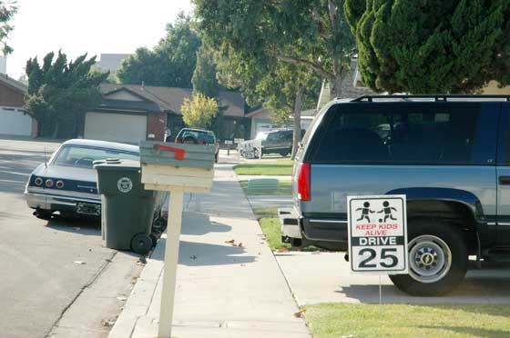 SIGN FOR RESIDENTIAL STREET