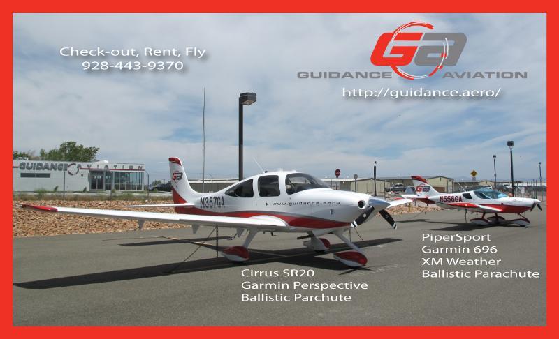 Guidance Aviation Fixed Wing Flight Line: Cirrus SR20, PiperSport LSA