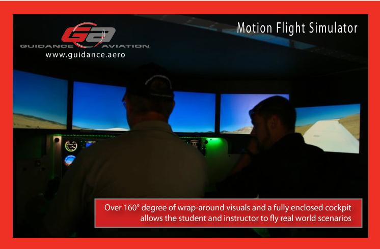 Red Bird Motion Flight Simulator at Guidance Aviation of Prescott, AZ.
