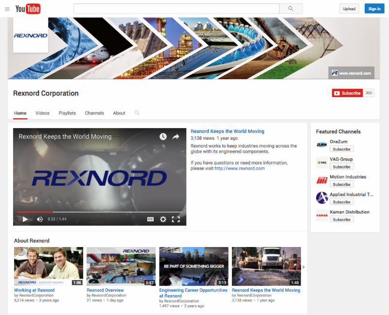 Rexnord YouTube