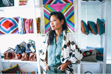 Roseli Ilano, Founder of ILANO Design, a company that works with women artisans around the world to create textiles.
