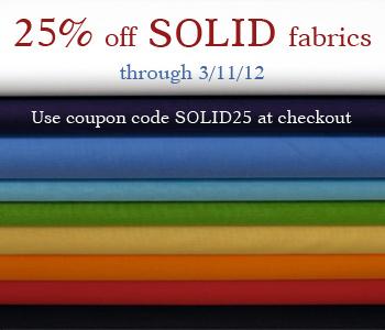 25% OFF Solid Fabrics