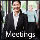 Meetings Icon with border
