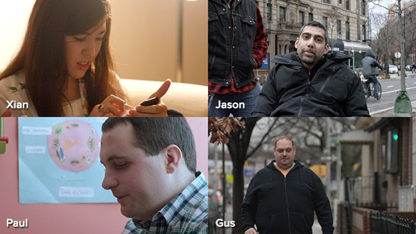 Images of 4 people with disabilities