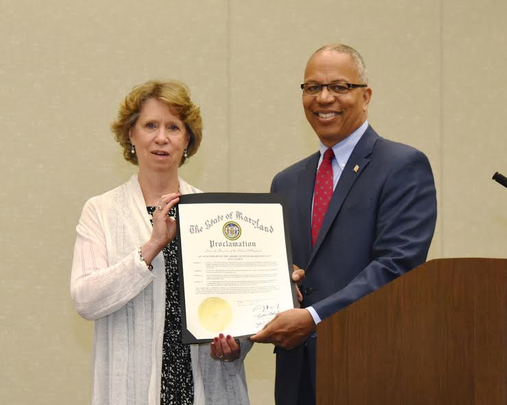 Secretary Beatty and Lt. Governor Rutherford hold ADA 26 proclamation