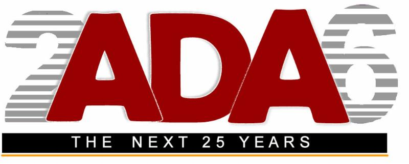 26th anniversary ADA Event logo
