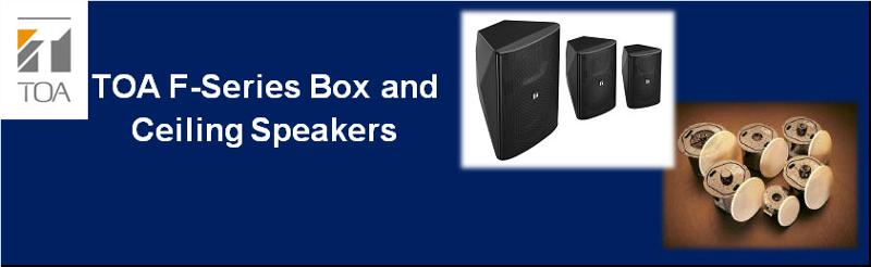 F-Series Box and Ceiling Speakers