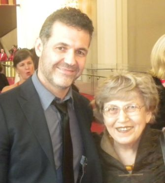 Lily Willens and Khaled Hosseini