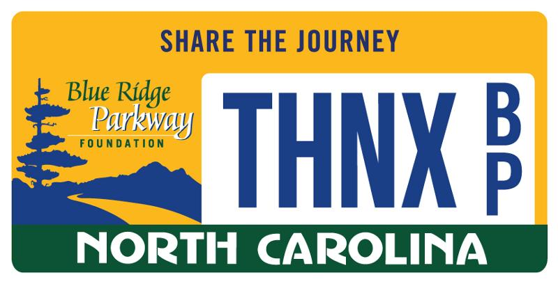 NC Blue Ridge Parkway Specialty Plate