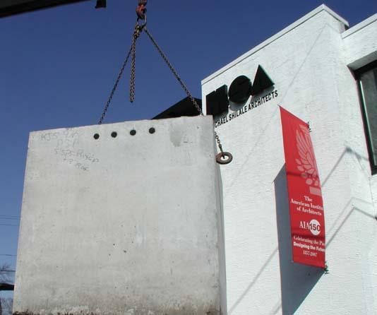 rainwater tank being installed