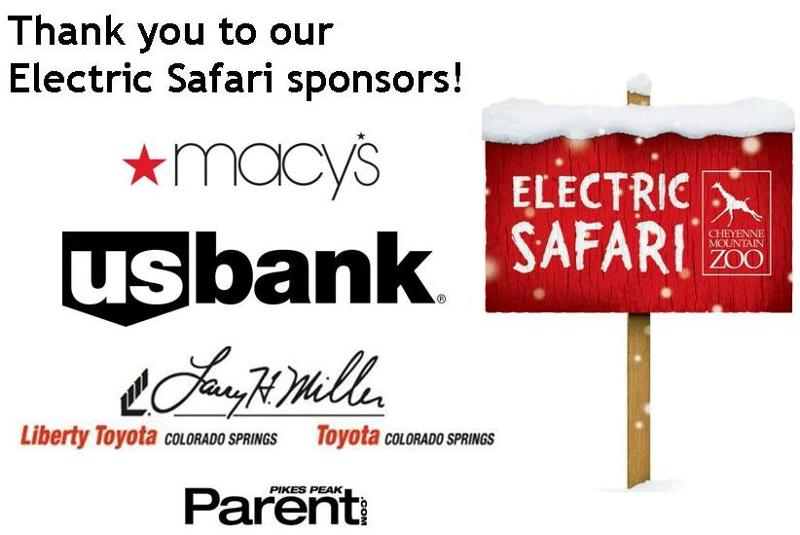 Electric Safari Sponsors