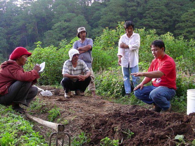 teaching at ENCA Farm