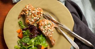 Crispy Peanut Butter-Pretzel Chicken