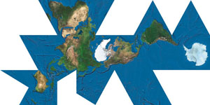 Fuller Projection Map