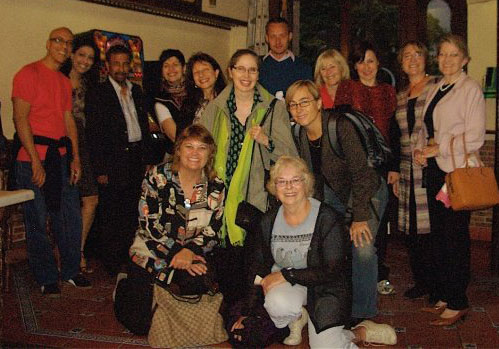 Donna Stringer and Cultural Detective team members in Granada Spain