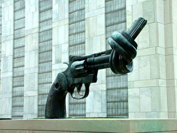 United Nations gun sculpture