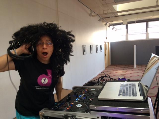 Dj Charis with her Disco Mix