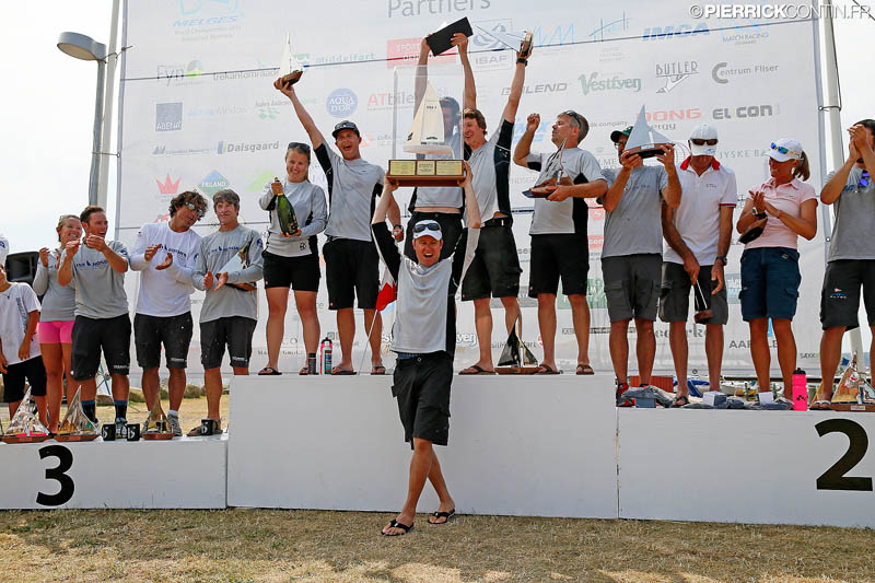 Top 3 teams of the Melges 24 World Championship 2015 © Pierrick Contin/IM24CA