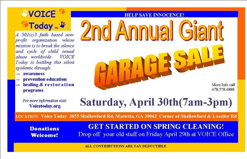 2011 GARAGE SALE