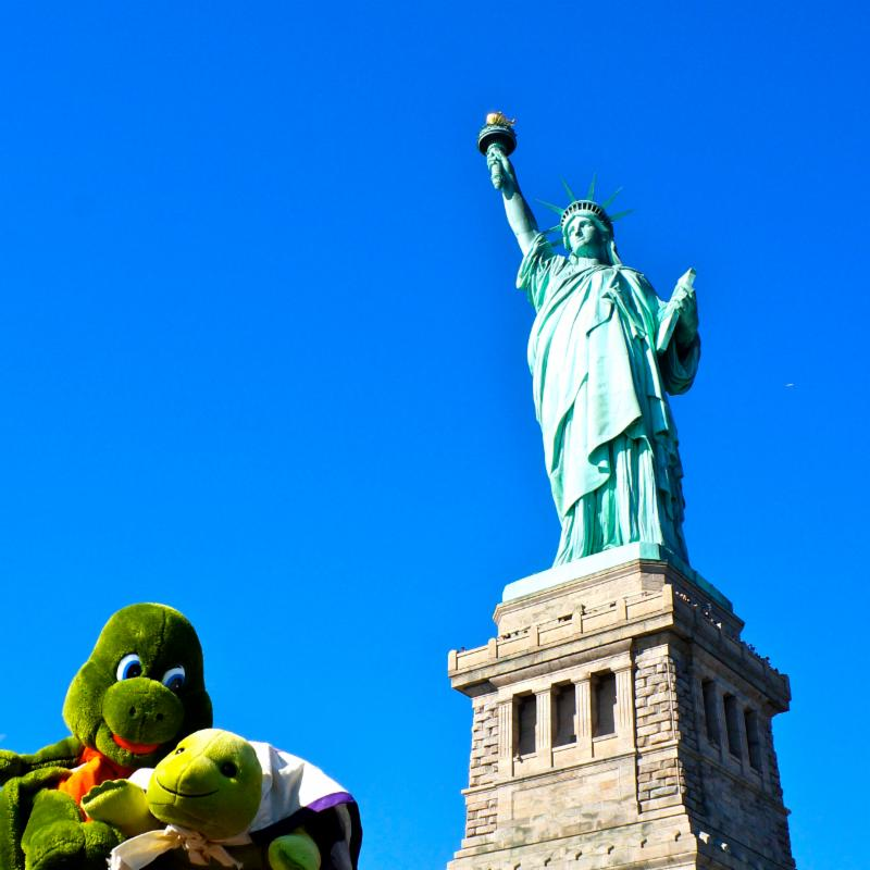 Myo at Statue of Liberty
