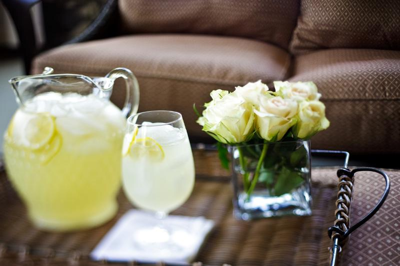 homemade lemonade at Stonehurst Place