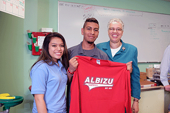 Honorable Toni Preckwinkle Visits Dr. Pedro Albizu Campos Puerto Rican High School