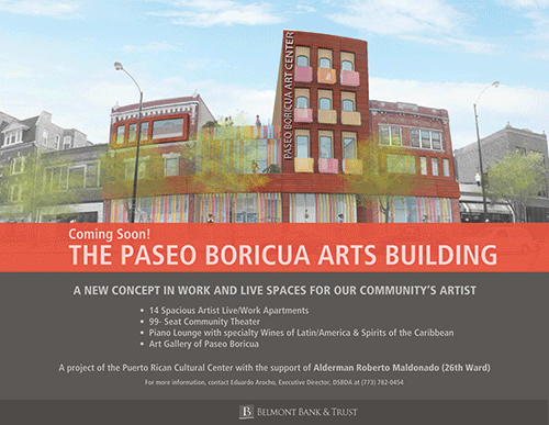 PRCC Acquires Properties to Develop Paseo Boricua Arts Centre; Belmont Bank Provides Financing
