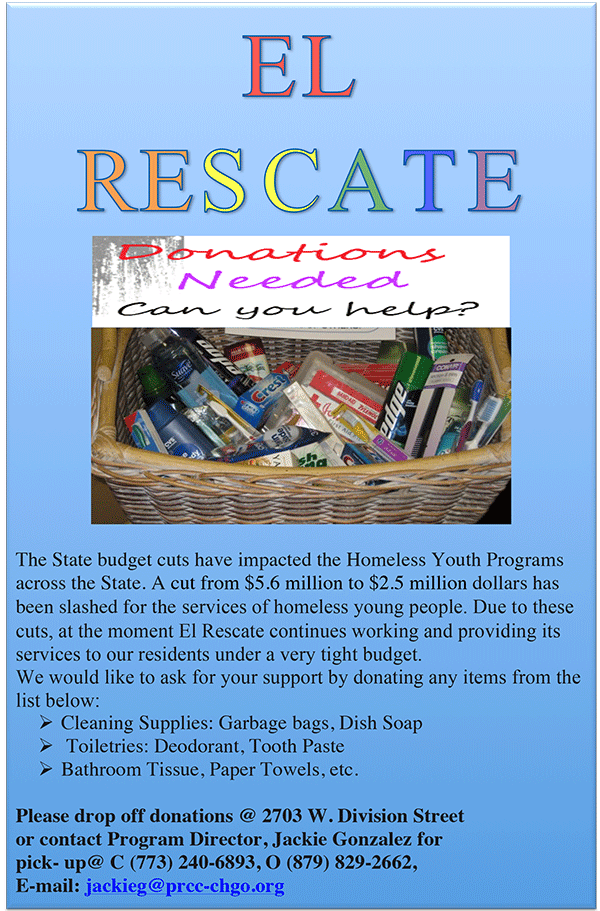 El Rescate: Donations needed can you help?