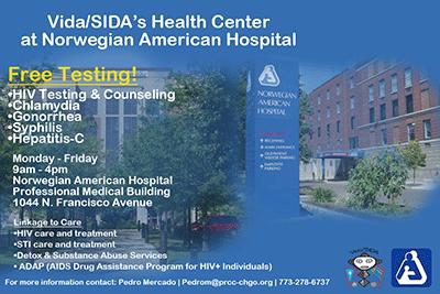 Vida/SIDA's Health Center at Norwegian America Hospital