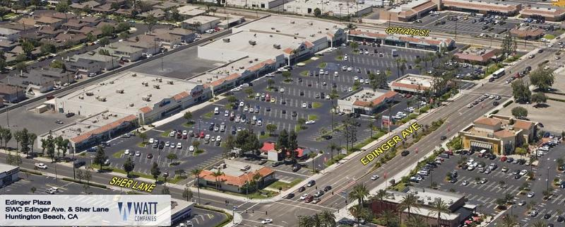 Aerial view Edinger Retail Plaza