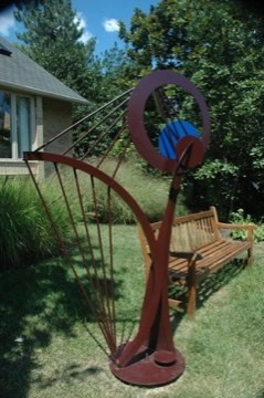 Meg Harp Statue