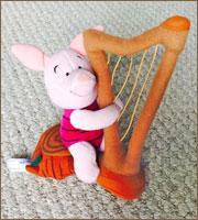 Piglet Plays the Harp