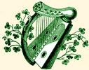 Harp with Shamrocks