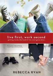live first, work second bookcover pic
